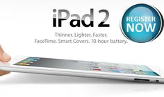 Get Apple iPad 2 64GB for free!– Registration Complete