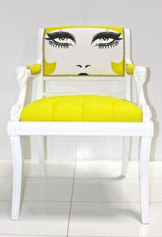 Eclectic Furnishings -- Yellow Chair