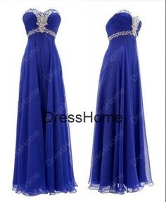 Sweetheart Long prom Dress  Blue Prom Dress / Cheap by DressHome