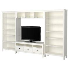 """""""Built in"""" shelves for living room & tv"""