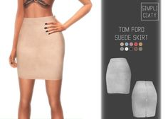 SUEDE SKIRT at Simpliciaty via Sims 4 Updates  Check more at http://sims4updates.net/clothing/suede-skirt-at-simpliciaty/