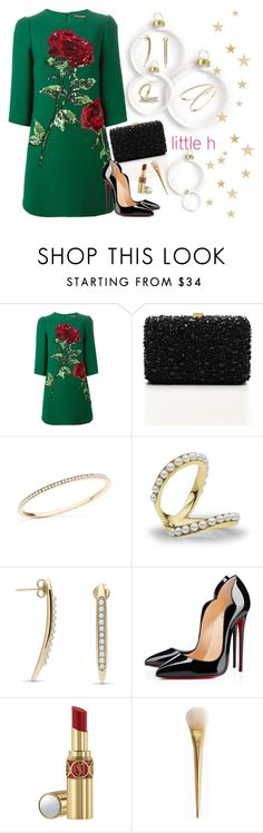 """""""Pearls in holidays"""" by gabyidc ❤ liked on Polyvore featuring Dolce&Gabbana, Elie Saab, Christian Louboutin, Yves Saint Laurent, pearljewelry and littlehjewelry"""