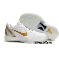 084b12837a8b Nike Zoom Kobe 6 White Gold Sport Kobe 6 Shoes