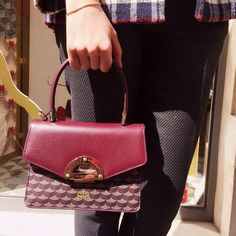 Petit Parade in Ivress Red toile écailles and Bordeaux Calfskin   faurelepage  paradebag  faurelepage · InstagramStreet StyleRedHow ... bf61d870966