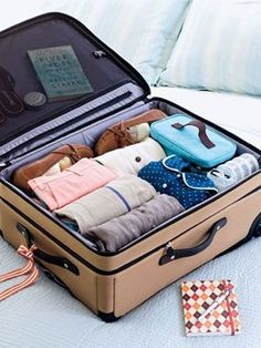 To maximize the space in your suitcase, be sure to adopt the rolling method. Not only will it make more room, it'll also ensure that your clothes will have less wrinkles.