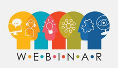 Webinar Multiple Overlapping Heads With Icons vector art illustration Online Group, Training Center, Crypto Currencies, Personal Branding, Workplace, Vector Art, Microsoft, Digital Marketing, Infographic