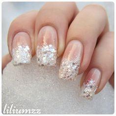 """Snoooow!!! ❄❄ I made this #frenchmanicure with loose glitter. ❤❄ I'm holding a snowball in the pic  Check out my instagram @liliumzz  #nail #nails #nailart #naildesign#nailpolish #nailstagram #manicure #mani #neglelakk #manikyr #instanails #nagellack #nailspiration #notd #nailsoftheday #liliumzz #cutenails #cutemani #nails2inspire #looseglitter #glitter #frenchmanicures #frenchmani #frenchtips #glitternails"