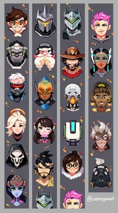 An Overwatch Lanyard design I did for AX! I love these chaacters so much… Stop by and get these at table D19