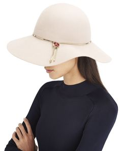 f36c3fd37f0 PUTTY-COLORED WIDE-BRIMMED HAT LANVIN