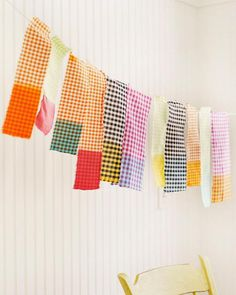 PERFECT FOR YOUR NEXT PARTY! Sweet Paul's Dip Dye Gingham Bunting - Gingham + Dip Dye = Fabulous!