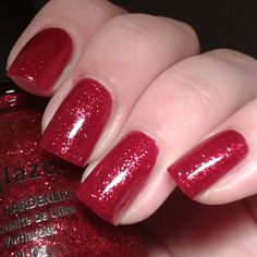 China Glaze ~ Ruby Pumps #chinaglaze #rubypumps #chinaglazerubypumps #tvdchinaglaze #xmasbytvd