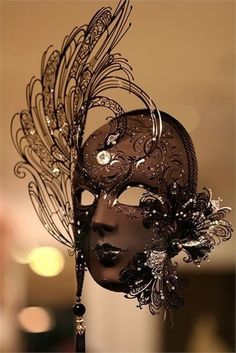 Chocolate- This is a Mardi Gras mask for me! Chocolate Fashion, Chocolate Art, Chocolate Brown, Venetian Masquerade Masks, Masquerade Party, Arte Punch, Chocolate Showpiece, Costume Venitien, Carnival Masks