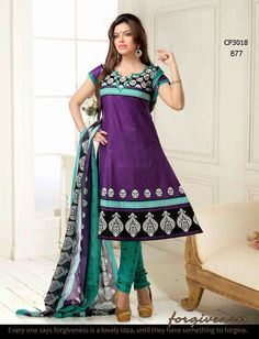 Collection Buy Purple Cotton Dress Material with discount Salwar Suits Party Wear, Party Wear Dresses, Summer Dresses, Indian Fashion Salwar, Womens Clothing Stores, Clothes For Women, Casual Wear, Casual Dresses, Anarkali