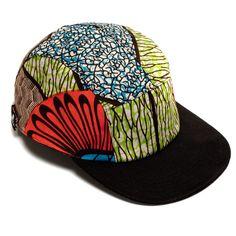 cewax.fr aime cette casquette en tissu africain wax style ethnique afro tendance tribale african print ankara MOUPIA — MOUPIA Kitenge/Black 5 Panel Hat