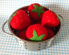 Pretend Play Felt Food 8 x Large Strawberries with Packaging, Great Gift for Christmas on Etsy, $16.48