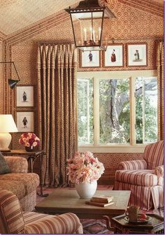 elegant sitting room with neutral / blush pink tones