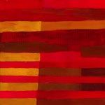 red and orange stripes, wal art