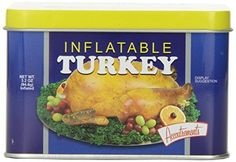 Accoutrements Inflatable Turkey - when you're a lousy cook. OR - you want to Facetime/Skype with the family while your luscious fake turkey sits beside you.