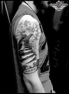 Stairs and Clock tattoo