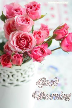 Good Morning images with Flowers that most beautiful and heart touching. share Good Morning images with Flowers with your friends and family. Good Morning Roses, Good Morning Photos, Good Morning Messages, Good Morning Greetings, Good Morning Good Night, Morning Pictures, Morning Wish, Good Morning Beautiful Flowers, Rose Pictures