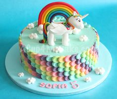 unicorn and rainbow cake with chocolate icing - Google Search