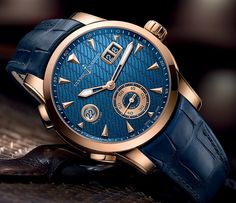 Ulysse Nardin Dual Time Manufacture blue dial - Perpetuelle
