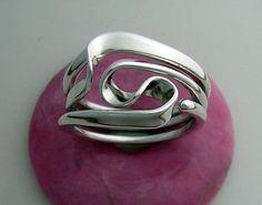 Vortex Energy Ring, Three Turn Design. $165.00, via Etsy.