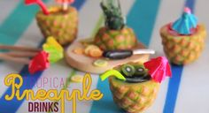 Tropical Pineapple Fruit Drinks - How To Make a Pineapple Cane with Polymer Clay by Toni Ellison -> tutoriel en vidéo