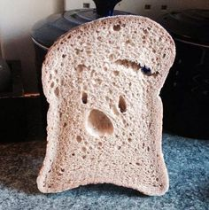 That moment bread realises you aren't going to eat it and you aren't going to…