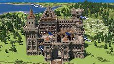 Medieval castle map more cool minecraft creations, Minecraft Farm, Minecraft Plans, Minecraft Construction, Minecraft Blueprints, Minecraft Pixel Art, Minecraft Projects, Minecraft Designs, Minecraft Medieval Castle, Minecraft Structures