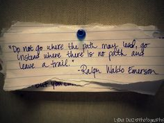 the different but more difficult road less traveled.