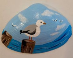 Whale Painted on Seashell by YankeePeddlers on Etsy