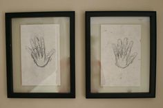 If you have kids: handprint tracings either each year on their birthday or start tracing each year they go to school.