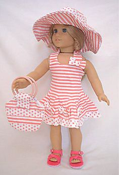 """NEW Doll Sun Dress Set Doll Clothes Fits 18"""" American Girl Doll"""