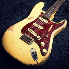 1963 Fender Stratocaster CS MBS Ultra Relic Vintage White By Jason Smith  #fender #fendercustomshop #fendergtrjunkie #fendergtrlover #stratocaster #fenderstratocaster #gibsoncustom #gibsonlespaul #guitaraddict #guitarjunkie #marshall #vintageguitar #bluesguitarist #gibsongtrjunkie #gibsongrtlover #relic #フェンダー #ストラトキャスター #ギブソン #レスポール #ギブソンカスタムショップ #フェンダーカスタムショップ #ギター #ヴィンテージギター #ギター好き #マーシャル