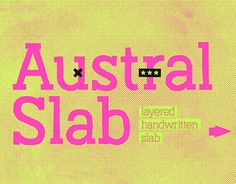 """Check out this @Behance project: """"Austral Slab — typeface"""" https://www.behance.net/gallery/40467309/Austral-Slab-typeface"""