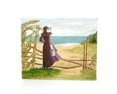 Vintage Painting Oil on Canvas Cape Cod by OceansideCastle on Etsy