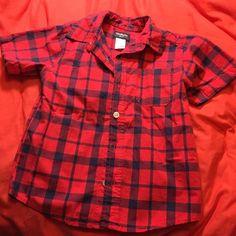BOYS Oshkosh Bigosh Button-up Adorable dress shirt for a little boy size 3t Tops Button Down Shirts