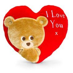 Cushions Keel Toys Pipp The Bear Red Heart Shaped Cushion Valentine I Love You & Garden