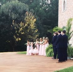 Waiting on the bride to enter at Pierce Castle:  Mississippi's Premiere Wedding and Event Venue
