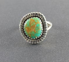 Vintage Native American Sterling silver Green by RMSjewels on Etsy, $65.00