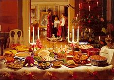 """A traditional Scandinavian Jul feast is called """"smörgåsbord."""" The word comes from Sweden and combines """"open-faced sandwich"""" (smörgås) and """"table"""" (bord). In Norway it is called """"Koldtbord. Norwegian Christmas, Italian Christmas, Scandinavian Christmas, Christmas Morning, Winter Christmas, Stockholm, Jessie Willcox Smith, Swedish Decor, Norwegian Food"""