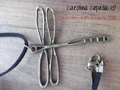 Collar libelula. Necklace dragonfly. Pewter $75. By Carolina Cepeda        http://www.facebook.com/heartdesignstudio