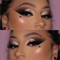 Dope Makeup, Makeup Eye Looks, Beautiful Eye Makeup, Flawless Makeup, Pretty Makeup, Baddie Makeup, Perfect Makeup, Makeup For Black Skin, Skin Makeup