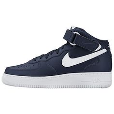 Nike Air Force 1 Mid '07 Mens 315123-407 Navy Blue White Shoes Sneakers Sz 10.5