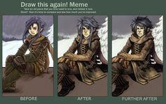 Draw this again meme by *Megan-Uosiu on deviantART