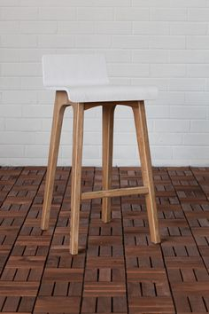 $199 on special from $249 Marina Plywood Counter Stool in White