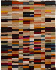 3312 Contemporary Kilim MultiColor 225x180cm http://loomrugs.com/rugs/new-contemporary-kilim