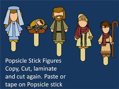 Games and other activities for Family Night: Nativity popsicle stick
