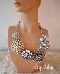 chic...pin antique brooch on necklace for a different look!